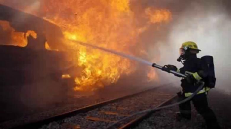 حريق يلتهم 20 دونما مزروعة بالقمح و20 شجرة زيتون في جنين