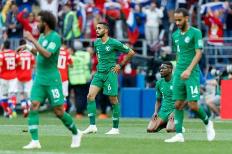 روسيا تكتسح السعودية بخماسية نظيفة بافتتاح مباريات كأس العالم