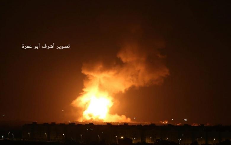 أول تعقيب من جيش الاحتلال على الغارات العدوانية بغزة
