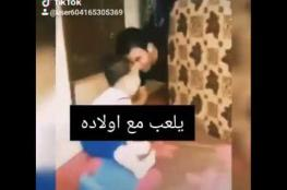 """فيديو يهز الوجدان والدموع .. قتيل """"فيلا نانسي عجرم"""" يداعب طفله"""