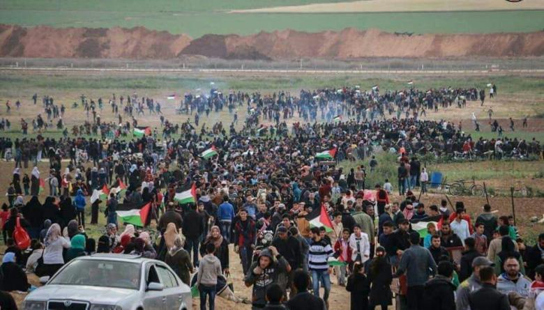 """جماهير قطاع غزة تتجهز لـ """"جمعة المسيرات خيارنا"""""""