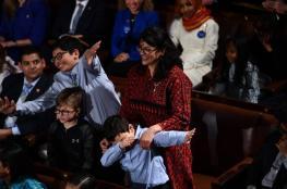 الفلسطينية رشيدة طليب بالثوب الفلسطيني داخل الكونغرس