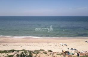 شاطئ بحر غزة اليوم