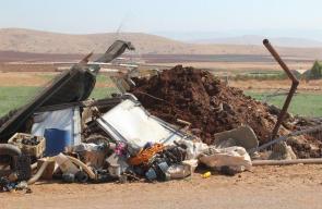الاحتلال يهدم منشأتين زراعيتين في قرية عاطوف جنوب شرق طوباس