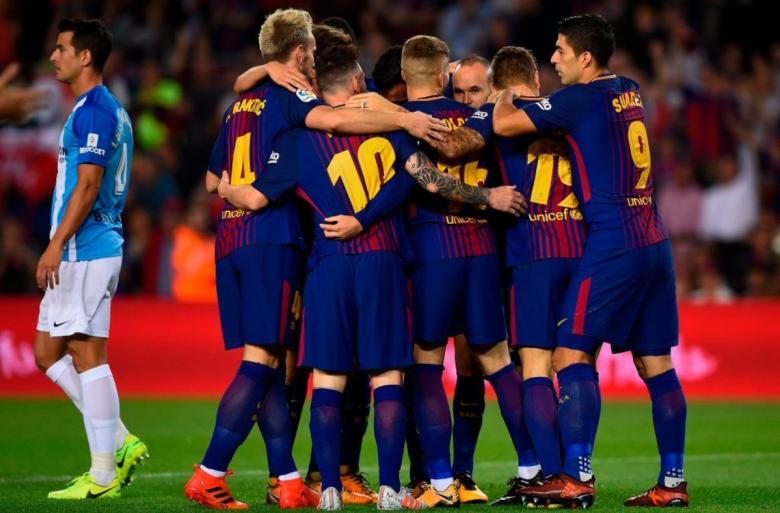 برشلونة يهزم مالجا في مباراة باهتة