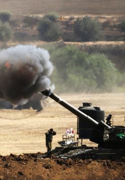 """شهيد وإصابات باستهداف مدفعي لمرصد شرق """"الوسطى"""""""