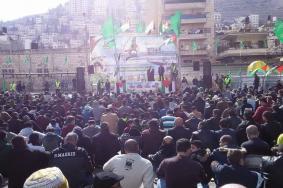 مهرجان مركزي بانطلاقة حركة حماس بنابلس