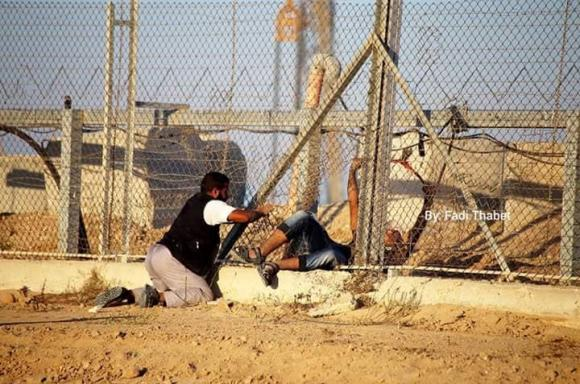 مواجهات الشباب مع الاحتلال في موقع كيسوفيم شرق الوسطى