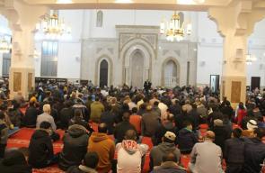 إعادة افتتاح مسجد القسام بمخيم النصيرات
