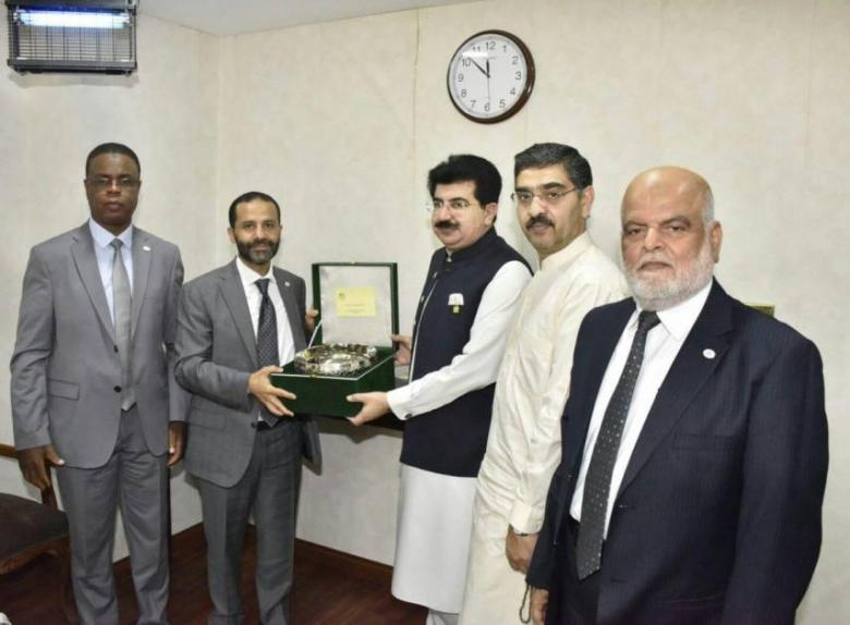 النائب أبو مسامح يزور البرلمان الباكستاني