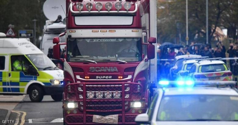 """التعرف على هوية ضحايا """"شاحنة الموت"""" في بريطانيا"""