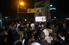تظاهرة حاشدة برفح تنديدا بحصار سلطة رام الله لغزة