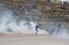مواجهات مع الاحتلال غربي رام الله