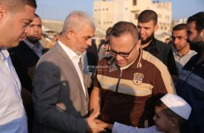 رئيس المكتب السياسي لحركة حماس في غزة يحيى السنوار يهنئ المواطنين بعيد الفطر