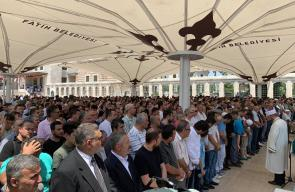 صلاة الغائب على الرئيس الراحل محمد مرسي بإسطنبول