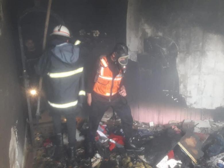 الدفاع المدني يسيطر على حريق بمنزل برفح الليلة