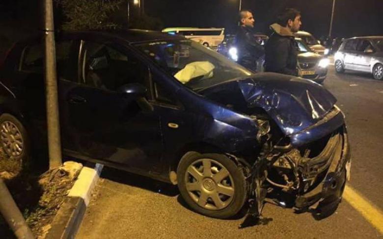 إصابة أربعة مواطنين خلال حادث سير ذاتي جنوب بيت لحم