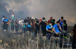 المواجهات التي اندلعت على الحدود الشرقية لقطاع غزة