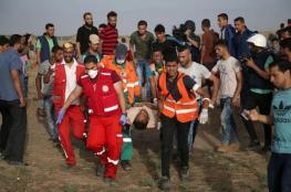 122 إصابة جراء قمع الاحتلال للمشاركين في مسيرات العودة