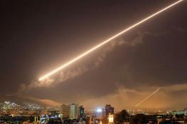 الدفاعات السورية تتصدى بشكل مكثف لصواريخ إسرائيلية