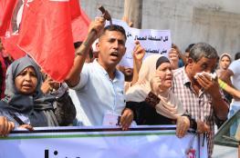 تظاهرة لعمال غزة للمطالبة بتوفير فرص عمل