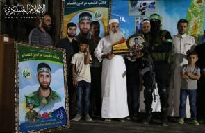 القسام يؤبن فقيده محمود أبو كميل بغزة