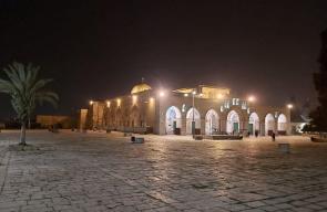 المسجد الأقصى المبارك فجر اليوم