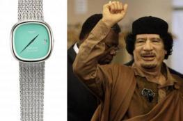 ذهبية وبها نقش عربي.. بيع ساعة القذافي بمزاد في دبي بهذا السعر