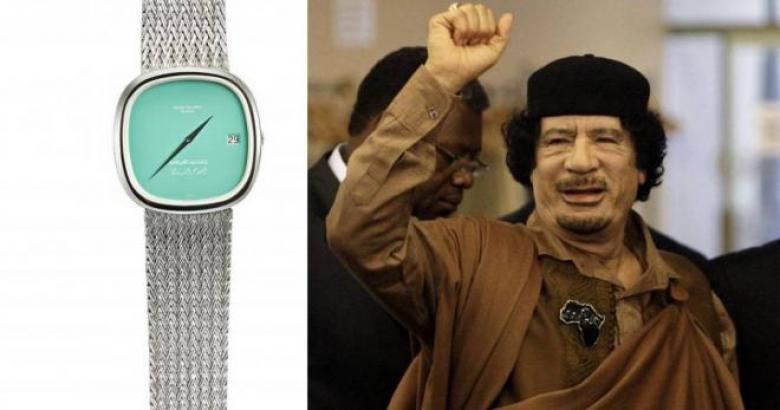 edd53dfcf ذهبية وبها نقش عربي.. بيع ساعة القذافي بمزاد في دبي بهذا السعر ...