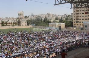 صلاة الجمعة في استاد الحسين بالخليل نصرة للأقصى