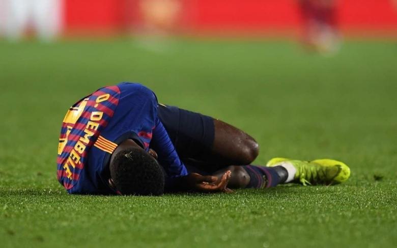برشلونة يصدر بيانًا بشأن إصابة ديمبلي