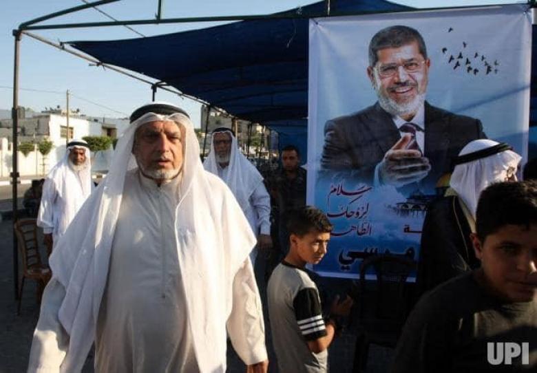 عزاء للرئيس الراحل محمد مرسي في غزة