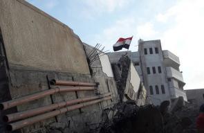 الدمار الذي لحق بمؤسسة المسحال إثر استهداف الاحتلال