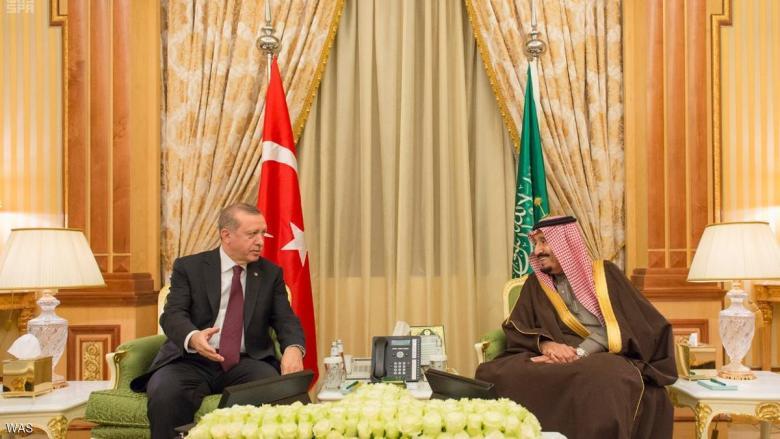 العاهل السعودي يلتقي أردوغان