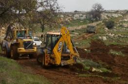 الاحتلال يُجرف 50 دونما شرق سلفيت