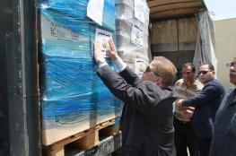 الصحة تسير شحنة أدوية لقطاع غزة