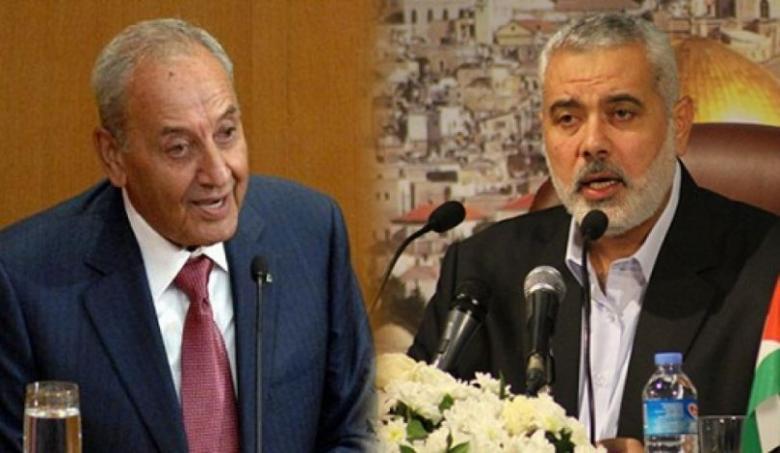 بريّ لهنية: عباس أبلغني أنه لا ينوي اتخاذ عقوبات ضد غزة