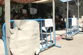 أجهزة الضفة تداهم اعتصام الأسرى المحررين برام الله