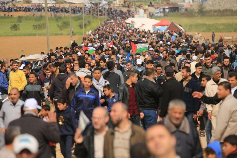 هيئة مسيرة العودة تدعو لتظاهرة غضب الجمعة المقبلة