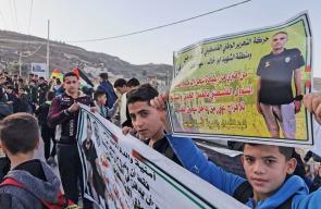 انطلاق مسيرة إلى منزل عائلة الأسير الشهيد سامي أبو دياك