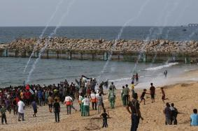 20 إصابة باعتداء الاحتلال على المشاركين بالحراك البحري الـ24