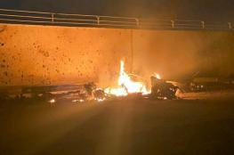 قوات أمريكية تنشر صورا جديدة لسيارة سليماني بعد استهدافها