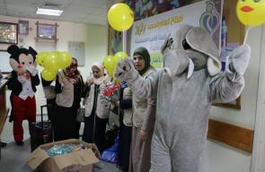 فعالية ترفيهية للأطفال المرضى بالسرطان في غزة