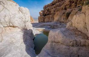 وادي القمران المطل على البحر الميت في أريحا