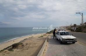 بحر مخيم النصيرات صباح اليوم