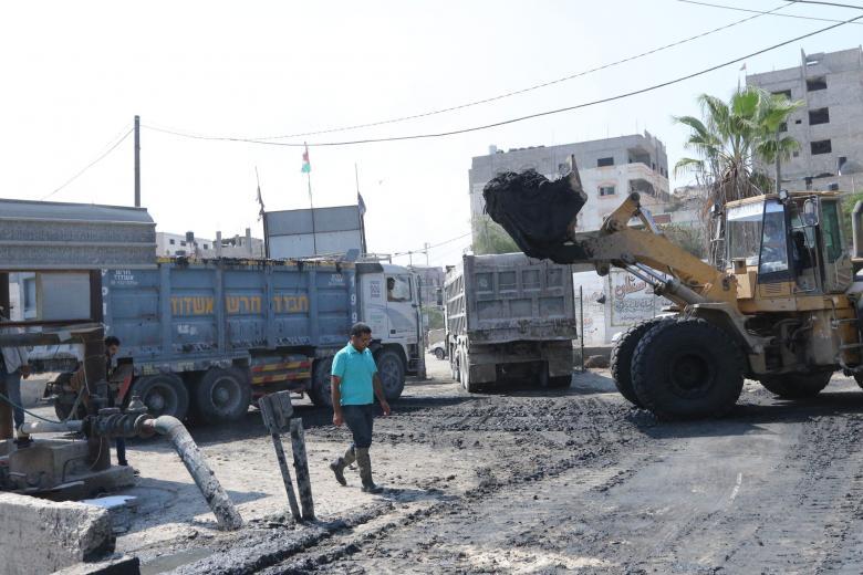 بلدية غزة تشرع بتجهيز برك تجميع مياه الأمطار استعدادا للشتاء