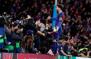 أجواء الفرحة في برشلونة بعد