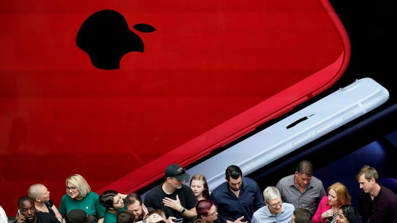 """هبوط سهم """"Apple"""" بفعل التوترات التجارية"""