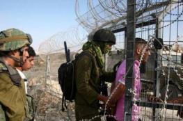 اعتقال 4 فلسطينيين بزعم اجتياز السياج الحدودي جنوب القطاع