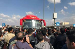 احتجاج الطلبة العالقين في معبر رفح